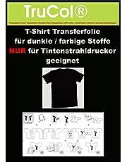 50 hojas de papel para Dark T-Shirt Tansferfolie transferencia Stoffe.Eine especial para la impresión de gorras de béisbol negro, colores, oscuros y brillantes camisetas, sudaderas, camisetas, bolsas de algodón, sábanas, banderas, .... te dan 20 hojas DIN A4 película de transferencia que incluye un manual de instrucciones de funcionamiento y lavado.