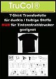 20 Blatt DIN A4 T-Shirt Transferpapier für Dunkle Stoffe.Eine spezielle Transferfolie zum Bedrucken von schwarzen, farbigen, dunklen und hellen T-Shirts, Basecaps,Sweat-Shirts,...