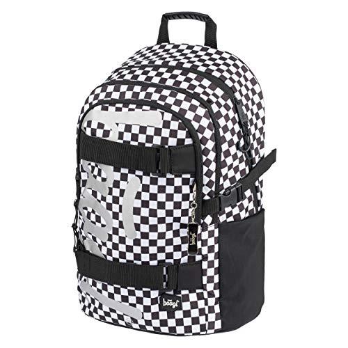 Schulrucksack für Jungen Mädchen Teenager - Skateboard Rucksack - Kinderrucksack mit Laptopfach und Brustgurt für Schule (Skate Ska)