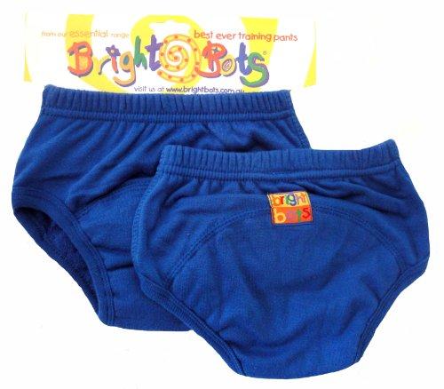 Bright Bots - Mutandine di apprendimento, confezione doppia, XL, 30-36 mesi, colore: Blu