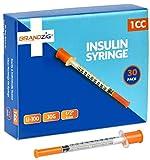 Brandzig Ultra-Fine Insulin Syringes 30G 1cc 1/2' 30-Pack