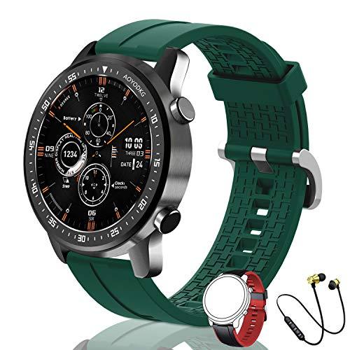 Orologio Intelligente da uomo | 2021 ultima versione | 168MB ROM | IP68 impermeabile con microfono altoparlante, quadrante chiamata, musica,14 modalità di sport,battito cardiaco, pedometro ecc.verde