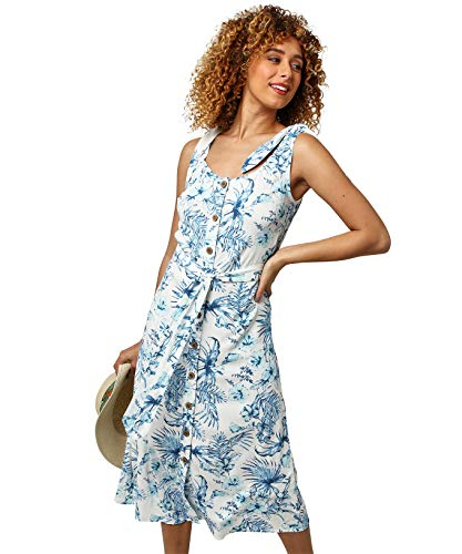 Joe Browns Damen Summer Love Dress Lssiges Kleid, A-Weiß/Blau, 36