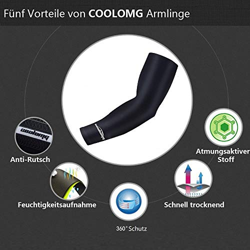 COOLOMG Sport Compression Arm Sleeve Baseball Volleyball Basketball Fußball für Kinder XXS - 3