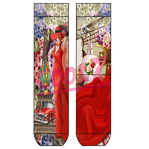 Sympatico Lady Socks 'Lady in Red' OneSize Bio Baumwolle comic Design bunt Paris cool, Farben alle:Lady in red, Größe:One Size
