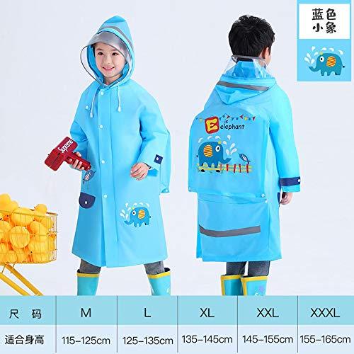 Dameng Kinder Raincoat Kindergartenkinder Poncho zur Schule gehen Full Body Eindickung Raincoat mit Schulranzen,D,M