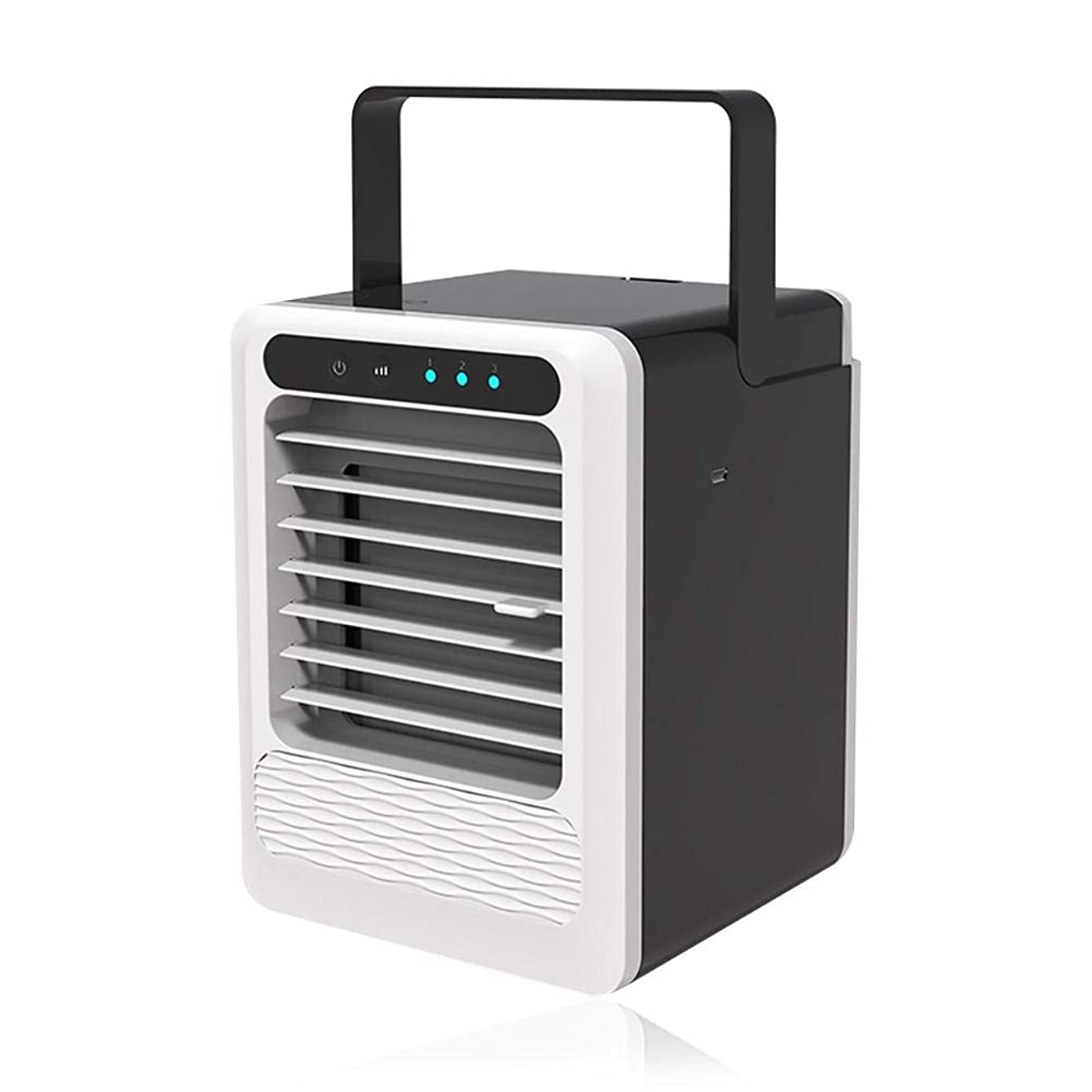 Portable Air Cooler, Auto Air Conditioner USB Fan Personal Cooler with Handle 3 Speeds Wind Adjustable Ultra Compact Evaporative Coolers for Car, Home, Office, Camping