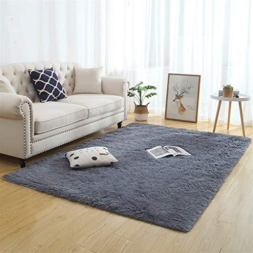 Silky Fluffy Carpet Moderno Hogar Decoración Larga Peluche Shaggy Alfombra Play Mats Sofá Sofá Living Dormitorio Cama Mat Balcón Alfombras (Color : J, Size : 50x120cm)