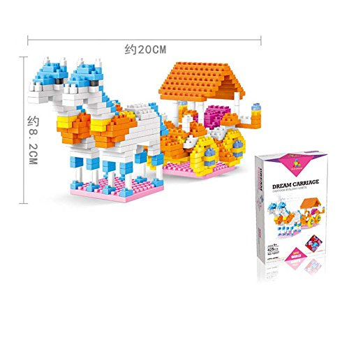 Princess Style Building Blocks MINI Bricks NANO Blocks, Horse Carriage