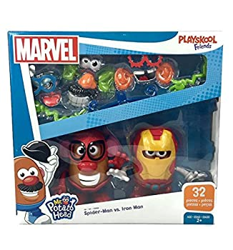 Mr Potato Head Marvel Spider-Man vs Iron Man Set by Playskool 32 Pieces