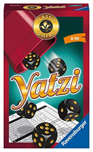 Ravensburger Mitbringspiele 20639 - Classic Compact Yatzi, beliebtes Würfelspiel ab 8 Jahren