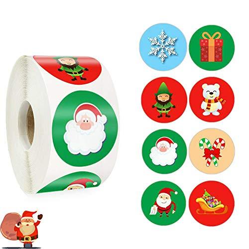 Etiquetas Adhesivas Navidad 500 Marca Guizu