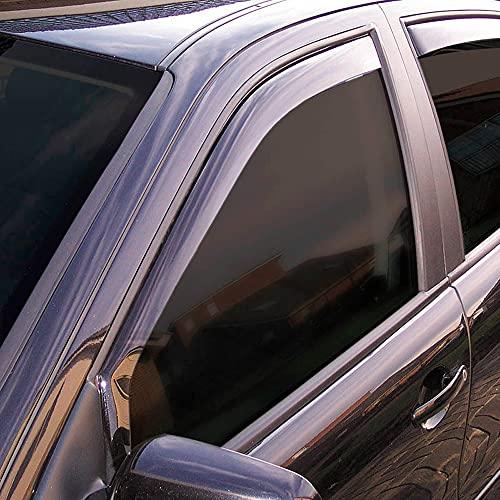 Vordere Windabweiser (1 Set) für die Fahrer und Beifahrerseite-CLS003P0136D passend für VW Caddy V Van, TYP SK, 5-Door, 2020- Dunkles Material