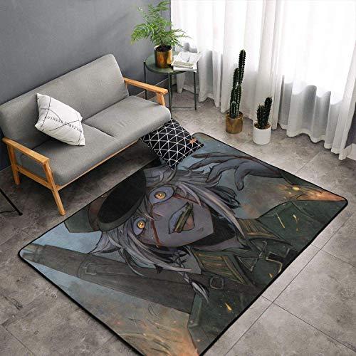 Meili Battle Young Girl Teppichbereich Schlafzimmer Camping Soft Mat Kinderdecken Zimmer Komfortable und langlebige Dekor Teppich 60 X 39 In