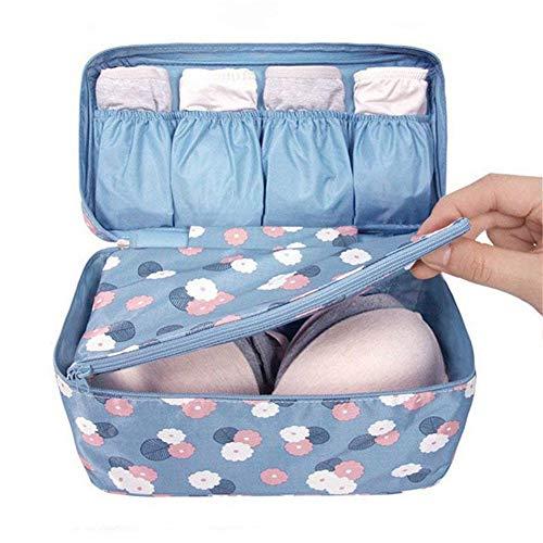 DUBENS - Borsa per biancheria intima, per reggiseno, organizer, borsa per calze, panno Oxford impermeabile, borsa da viaggio (blu)