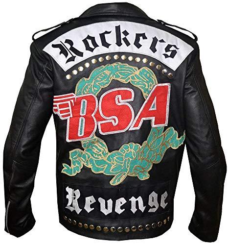 The Jasperz Mens George Micheal BSA Faith Rockers Revenge Biker Sheep Leather Jacket