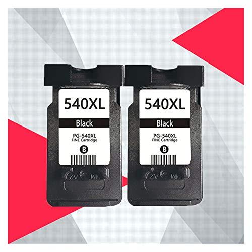 GBHD Tinta de Impresora para PG-540 PG540 CL541 CL-541 Cartucho para PG 540 CL 541 PIXMA MG3250 MG3255 MG3550 MG4100 MG4150 MG4200 MG4250 PG-540XL (Color : 2BK)