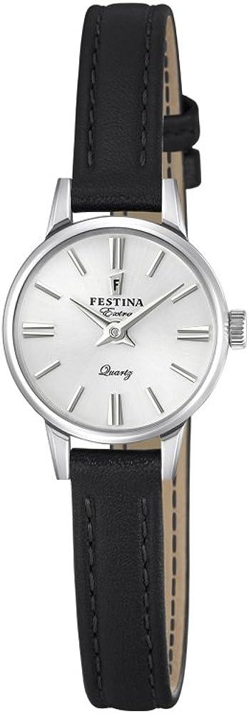 Festina orologio da donna con cassa in acciaio inossidabile e cinturino in vera pelle F20260-1