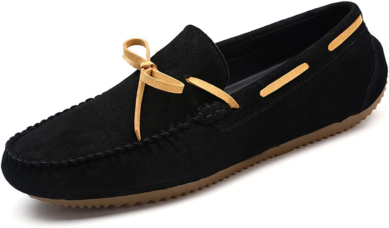 CHENXD shoes, Men's Fashion Breathable Flat Soles Drive Loafers for Casual Leather Frosted Boat Moccasins