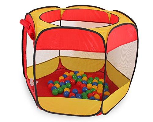 Ondis24 Bälleparadies Spielzelt für Kinder mit 100 Badebällen Pop-up Wurfzelt
