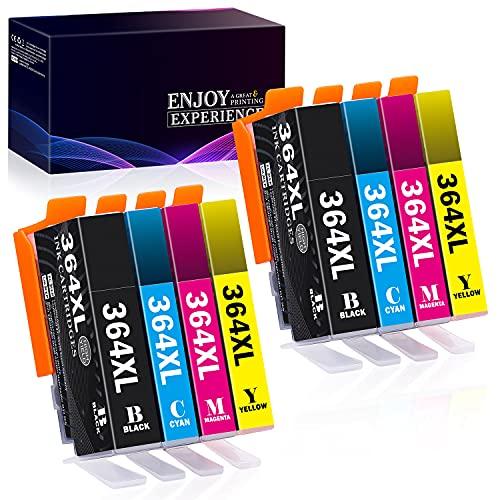 Zambrero 364XL Cartucce d'inchiostro Compatibili per HP 364 XL per HP Photosmart 5510 5520 5522 6520 6510 7510 7520, HP Officejet 4620, HP Deskjet 3070A 3520 (8 pezzi)