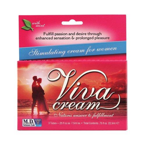 M.D. Science Lab Viva Cream Stimulating Cream for Women - 3 Tubes - M.D. Science Lab