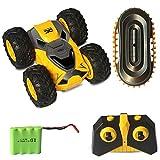 DreiWasser Ferngesteuertes Auto, Mini RC Offroad Spielauto 2WD 2,4GHz mit Fernbedienung, LED Licht (Gelb)