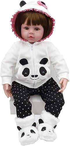Ruda Reborn Baby Puppen Silikon Ganz  mädchen Mit Panda Hoodie Tier Schuhe Weiße Vinyl Puppe Für Geburtstag Weißachten Spielzeug Geschenk 22