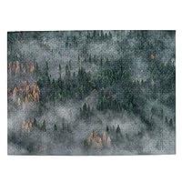 魔法 霧の森 500ピース ジグソーパズル ピクチュアパズル 木製の風景パズル、人物 動物 風景 漫画絵のパズル 大人の子供のおもちゃ家の装飾風景パズル Puzzle 52.2x38.5cm