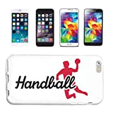 Reifen-Markt Coque de protection rigide pour iPhone 5 / 5S Handball Coach Handball Turnier Handball Player