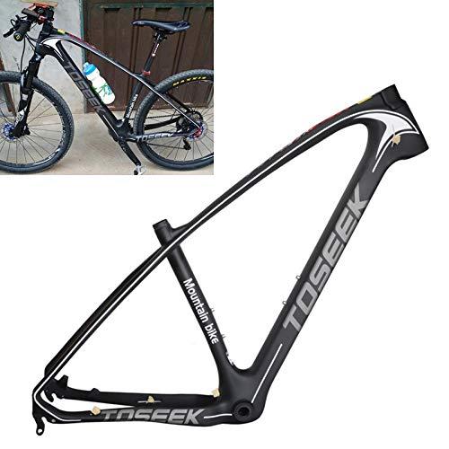 ZHANGYOUDE Logo decantarse Gris del Marco de MTB Bicicleta de montaña de Doble suspensión del Marco de Fibra de Carbono T800 Bicicletas, Tamaño: 29 x 17 Pulgadas