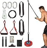 Clothink Cable para ejercicios de fuerza de brazo con sistema de polea para entrenamiento de peto y tríceps.