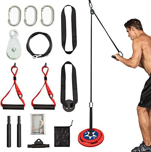 Clothink Kabel Übungen Armkrafttraining mit Riemenscheibensystem für Latzüge, Trizeps-Extensions-Fitness-Training