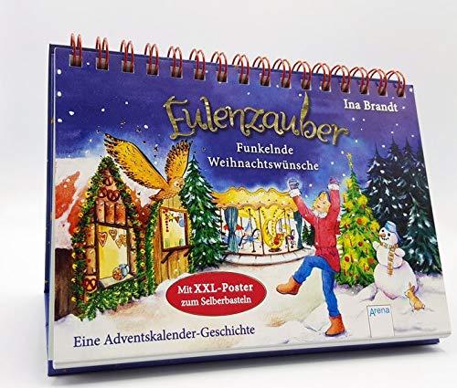 Eulenzauber. Funkelnde Weihnachtswünsche: Eine Adventskalender-Geschichte mit XXL-Poster zum Selberbasteln