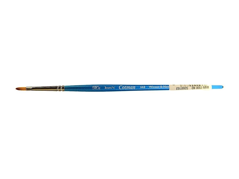 Winsor & Newton Cotman Water Colour Series 668 Short Handle Synthetic Brush - Filbert 1/8