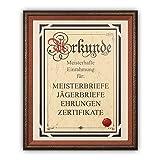 """Soobsoo GmbH Meisterbrief Einrahmung """"Alina"""" - Hochwertige Einrahmung für DIN A3 Urkunden - Echtholzrahmen"""