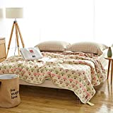 SHSYCER 6 Layer Cozy Lightweight Muslin Cotton Blanket for Bed, Couch & Sofa, Summer Bedding Coverlet Covered with Blanket Forest Style in Summer,Mushroom,F/Q 78''x90''
