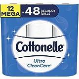 Cottonelle Lot de 12 rouleaux de papier toilette, ultra nettoyant, biodégradable
