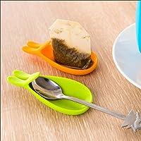 ホット かわいい ミニ ウサギ形状シリコーン ティー バッグ茶バッグ ホルダー ハンガー マグ タンブラー世界中へ お店-青い