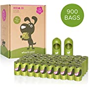 Earth Rated Eco-Friendly Dog Poop Bags, 900 Extra Thick and Strong Poop Bags for Dogs, Guaranteed Leak-Proof, Lavender-Scented, 60 Rolls, 15 Doggy Bags Per Roll, Includes 2 Leash Dispensers