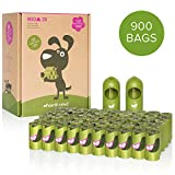 Earth Rated Dog Poop Bags, 900 Extra Thick and Strong Poop Bags for Dogs, Guaranteed Leak-proof, Lavender-scented, 60 Rolls, 15 Doggy Bags Per Roll, Each Dog Poop Bag Measures 9 x 13 Inches, Includes 2 Leash Dispensers