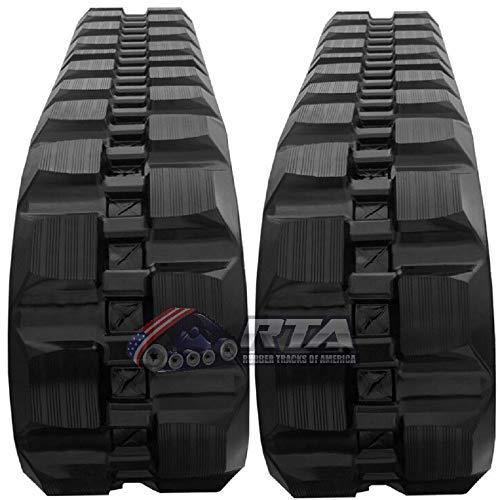Two Rubber Tracks for Bobcat T180 T190 T550 T590 T595 320X86X49 Block Tread 13