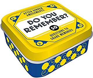After Dinner Amusements: Do You Remember? 50 Questions to Share Memories (Conversation Game for Family and Friends, Gift for Host or Hostess)