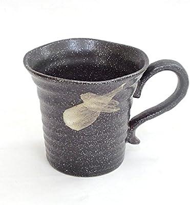 マグカップ さざ波 黒 美濃焼
