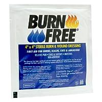 Burn First Aid Dressing Burnfree 4x4 Each by BURNFREE