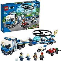 LEGO City Police - Policía: Camión de Transporte del Helicóptero, Juguete de Construcción de Aventuras, con un...