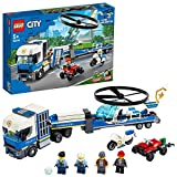LEGO City Police - Policía: Camión de Transporte del Helicóptero, Juguete de Construcción de...