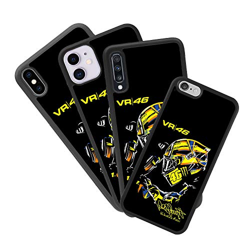 Funda Personalizada Compatible con móvil iPhone 7 Plus de Valentino Rossi de Goma Flexible TPU Borde Negro