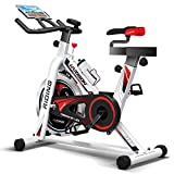 HARISON Pro Indoor Cycling Bike Belt Drive with iPad Holder, Stationary Exercise Bike Free Water Bottle by B1850