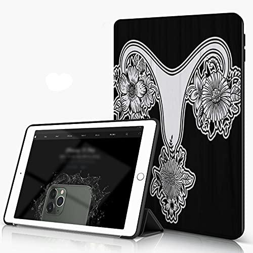 She Charm Carcasa para iPad 10.2 Inch, iPad Air 7.ª Generación,Hermosas Órganos Reproductores Femeninos Flores Útero Útero Sexo Mayor,Incluye Soporte magnético y Funda para Dormir/Despertar